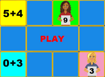 Addition Concentration Game
