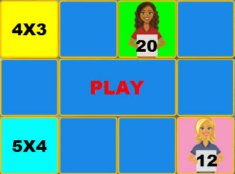 Concentration Multiplication Game Times 4