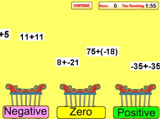 Adding Integers Drag and Drop Game